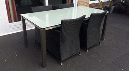 Glas Tischplatten