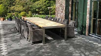Gartenmöbel set holz grau  Gartenmöbel-Sets - Naturstein, Holz, Glas und Dekton : Grau and Gelb