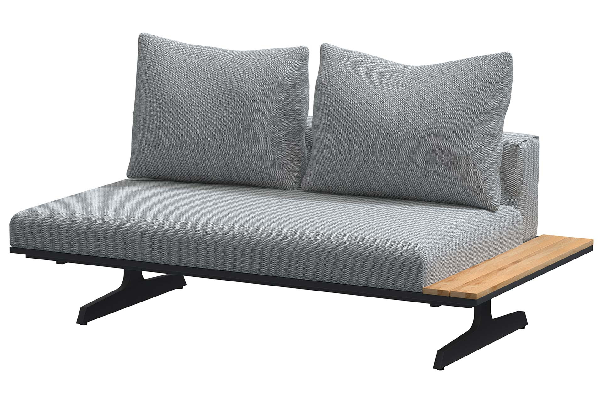 Endless multi concept Anthracite bench and chaise lounge 172 x 95 cm.
