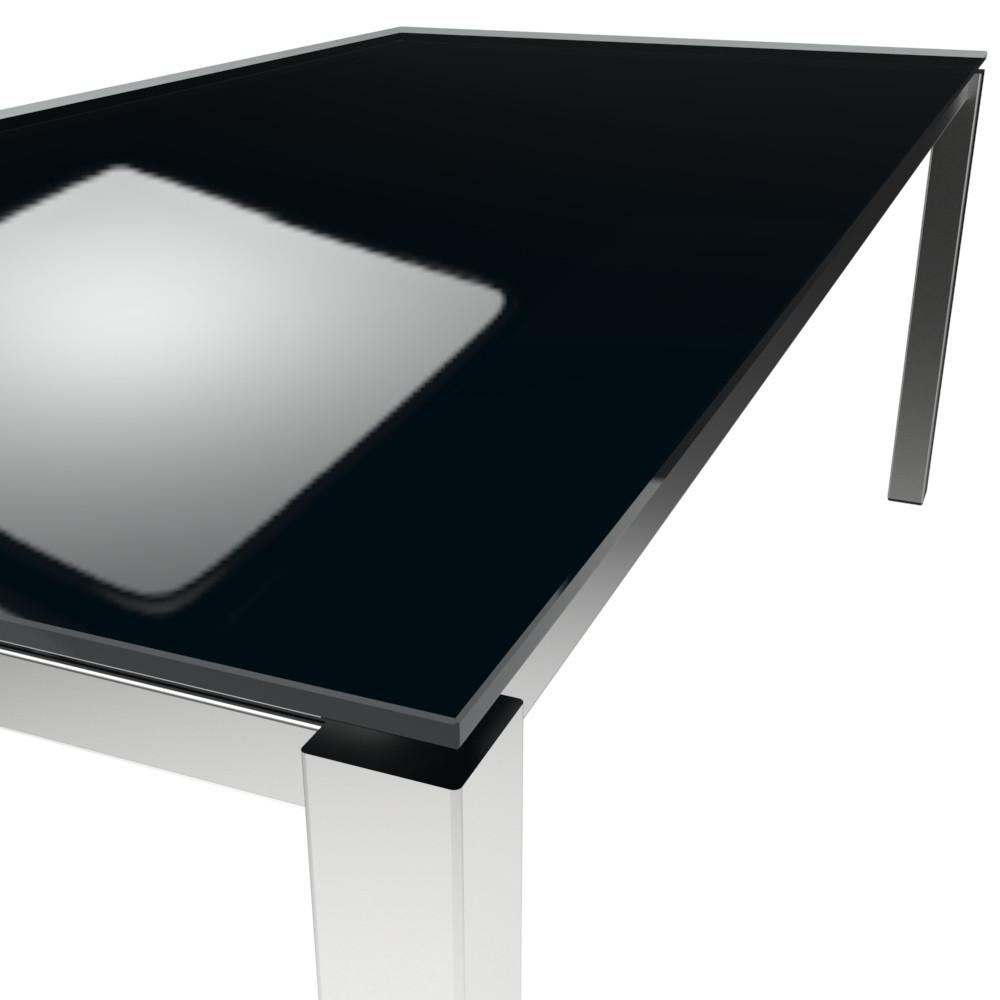 Platte ESG floatglas Pitch Black