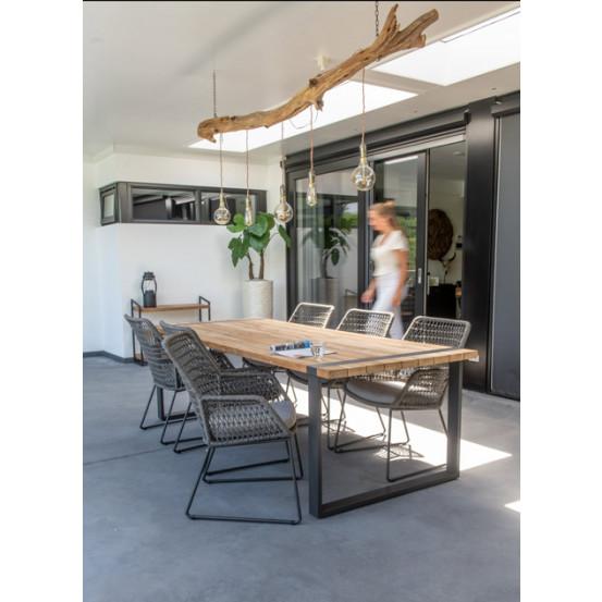 Alto teak aluminium anthracite tuintafel 240 x 100 cm