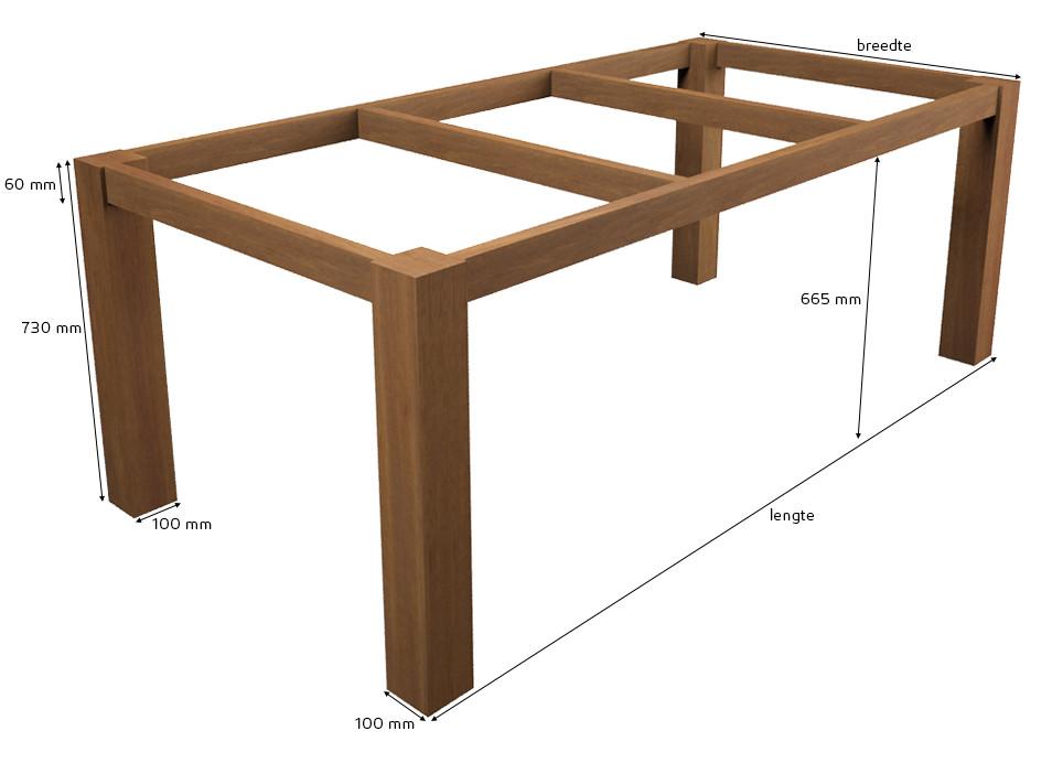 tischgestell standard guariuba holz. Black Bedroom Furniture Sets. Home Design Ideas