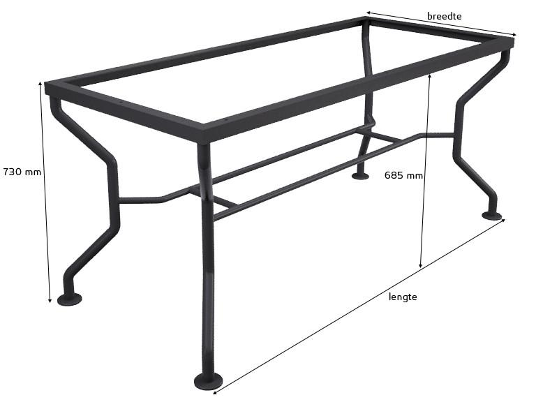 Afmetingen Tischgestell Universal