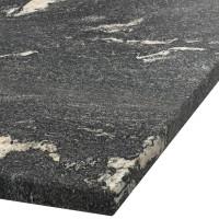 Platte 30mm stark Thunder Black Granit (leathered)