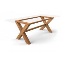 Tischgestell Kreuzfuß Guariuba Holz