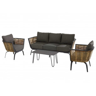 Antibes Lounge Set 4-teilig mit Cool Lounge Gartentisch