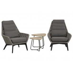 Savoy Loungestühle 4-teilig