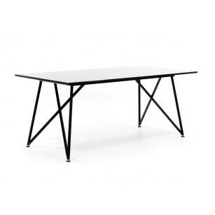 Design Tischgestell mit polierter Tischplatte