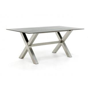 Dekton Gartentisch mit Kreuzfuß aus Edelstahl