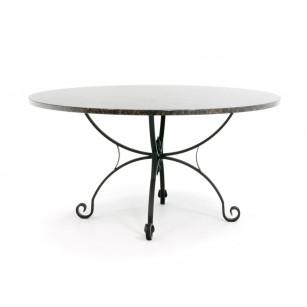 Klassischer Gartentisch mit Granitplatte