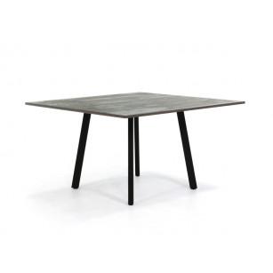 Quadratischer Esstisch mit Dekton-Tischplatte und Stahlrahmen