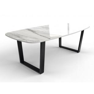 Tisch aus Dekton-Marmor mit beschichtetem Tischgestell