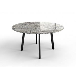 Granittisch mit Gestell aus beschichtetem Stahl