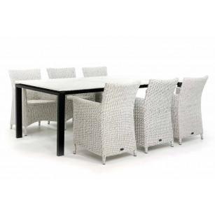 Gartenset mit Dekton Tischplatte und 6 Gartenstühlen