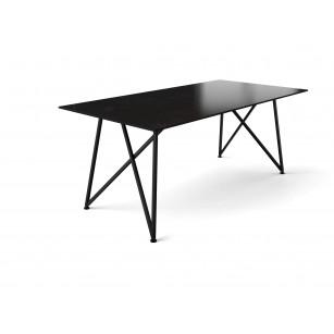 Esstisch Dänisches Design mit dünner Dekton-Tischplatte und schmalem Gestell