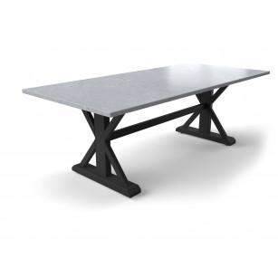 Robuster Gartentisch mit Tischplatte aus Hartstein in Betonoptik