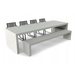 Betonlook tafel Lars met bank en stoelen