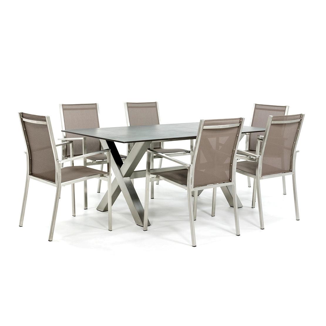 Gartentisch aus Edelstahl mit Tischplatte Dekton Kelya