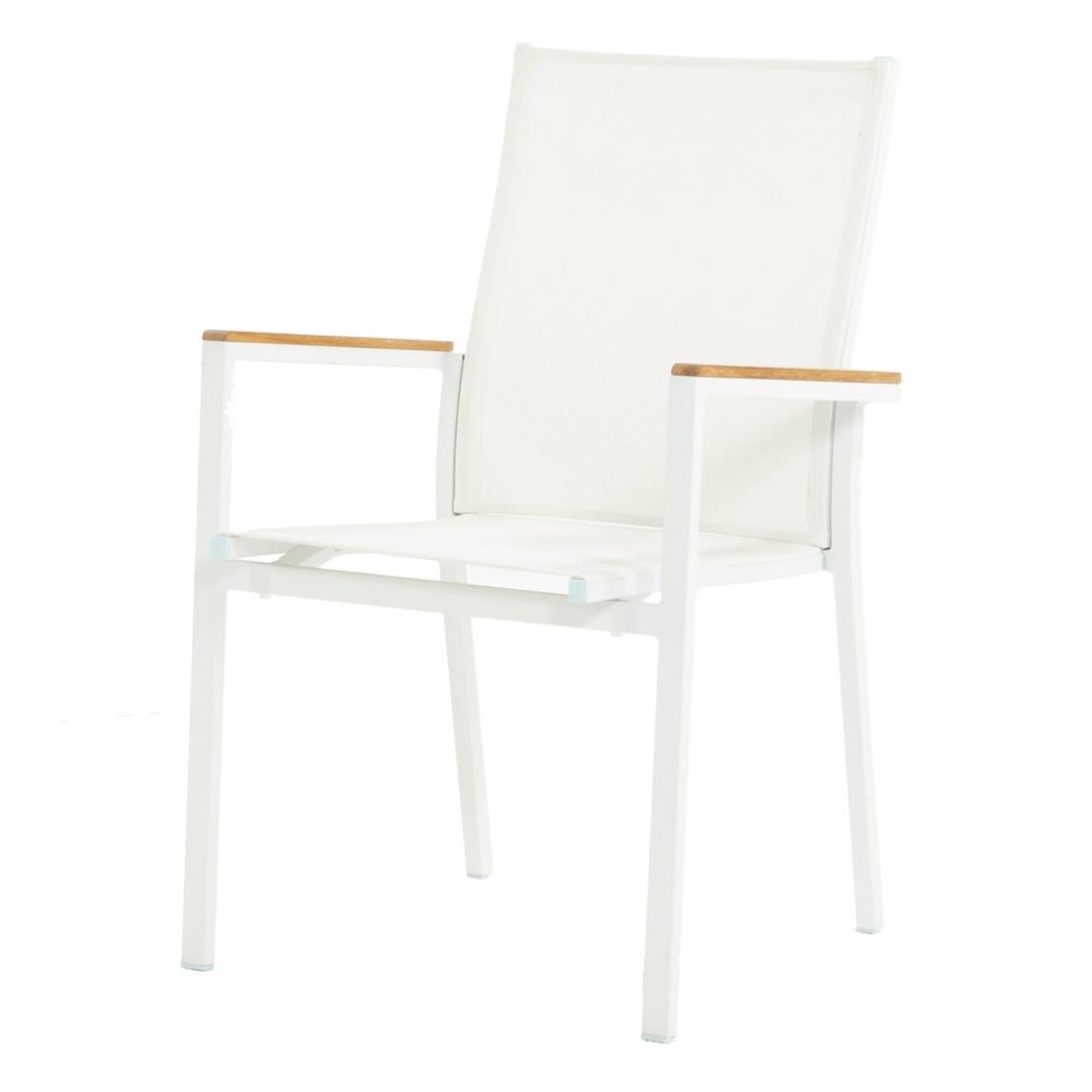 Falck Aluminium TK white Dining Gartenstuhl stapelbar