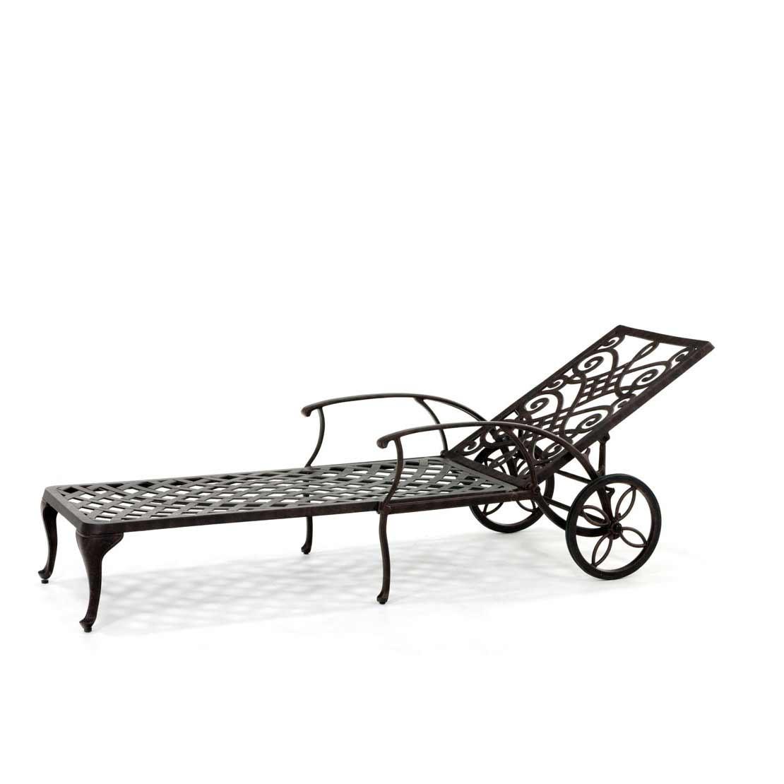 Pavia bronze Gartenliege mit Rad