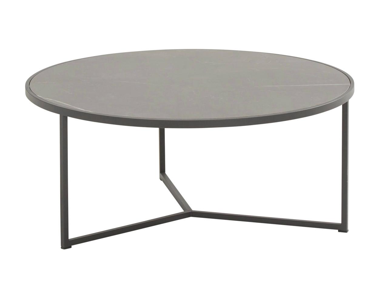 Atlas coffee table ceramic 80 cm.ø H 35