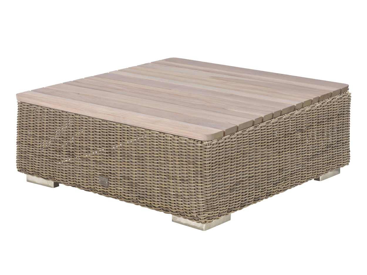 Kingston coffee table 85 x 85 x 35 cm. Teak top