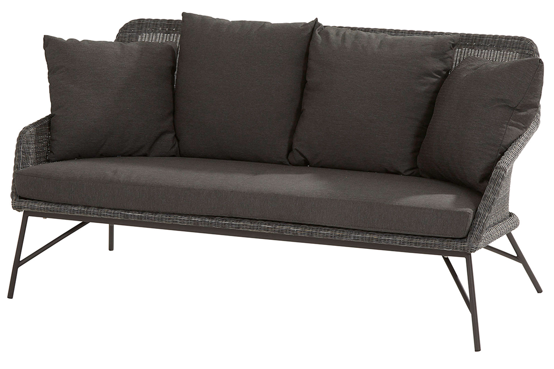 Samoa living bench with 5 cushions Ecoloom Charcoal