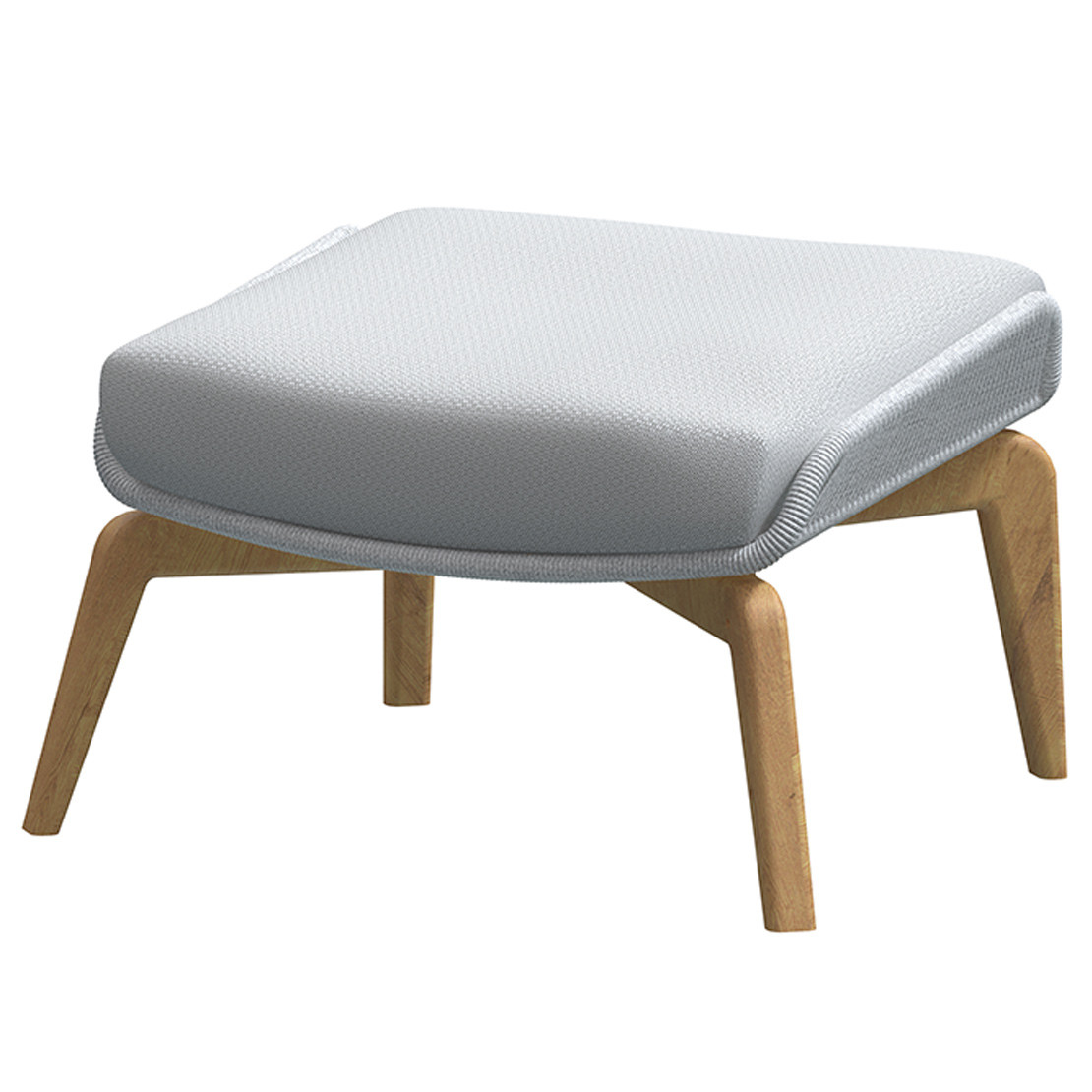Carthago teak footstool Frozen with cushion