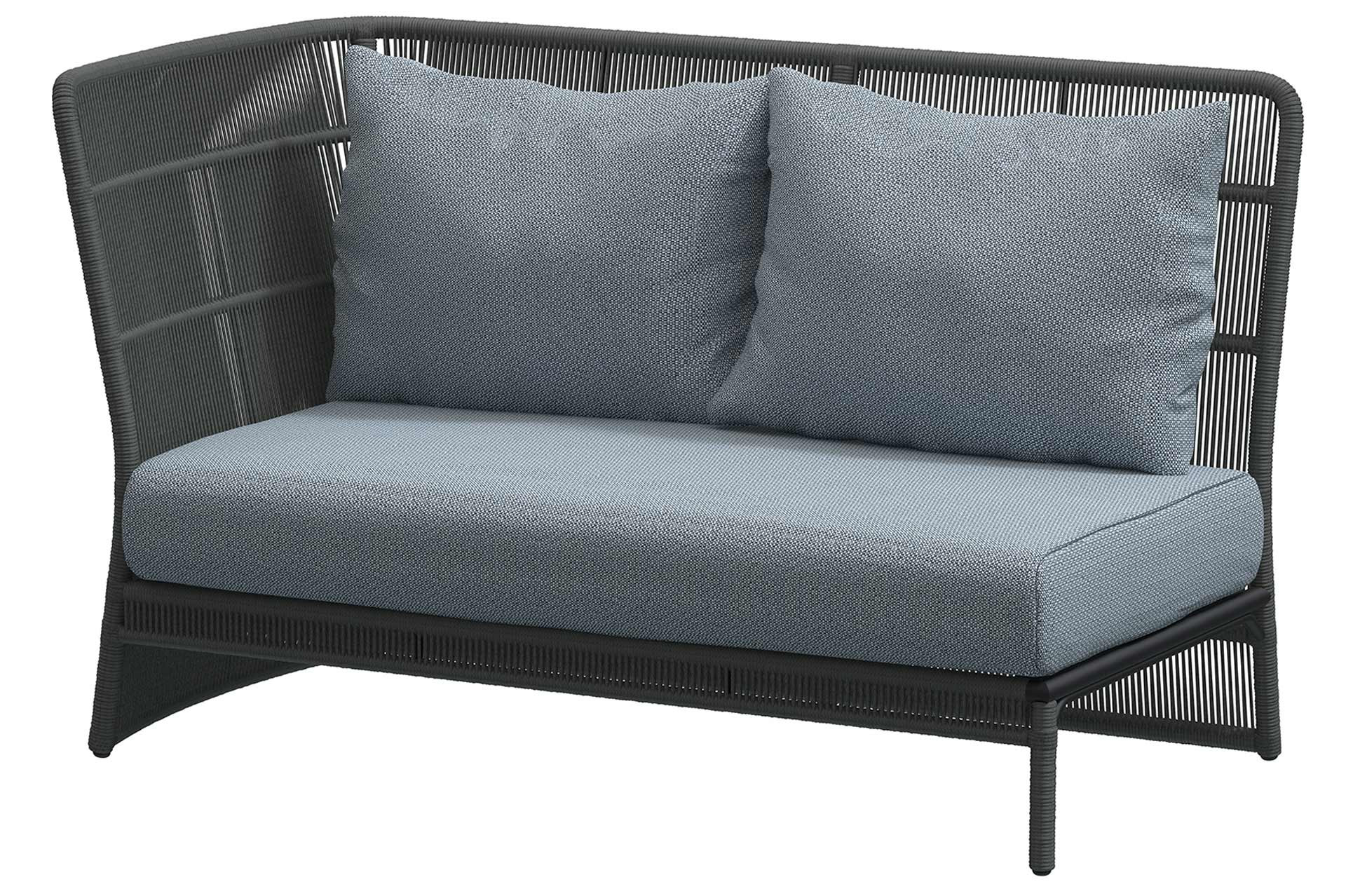 Oriënt Modular 2 seater right arm Platinum with 3 cushions
