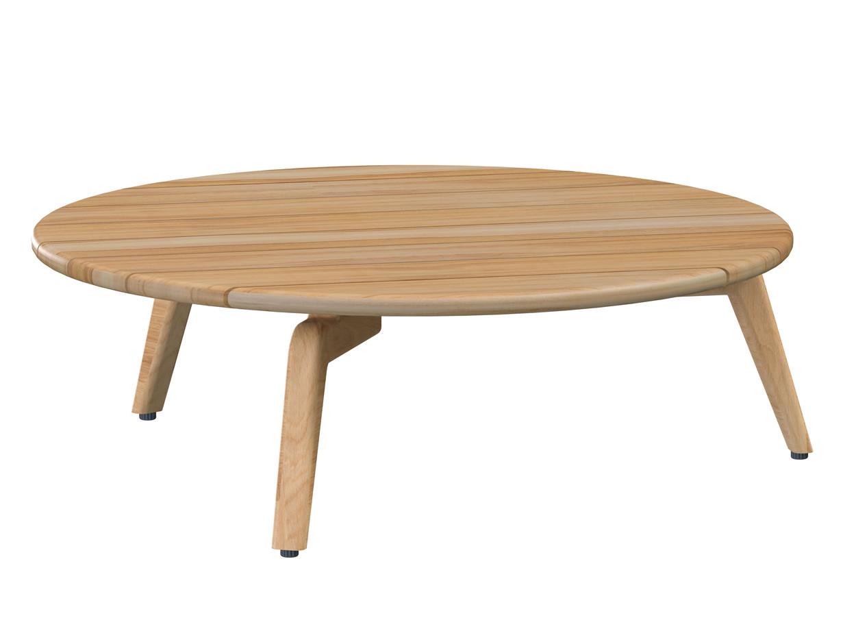 Zucca coffee table Natural Teak round 90 cm Teak legs (H30)