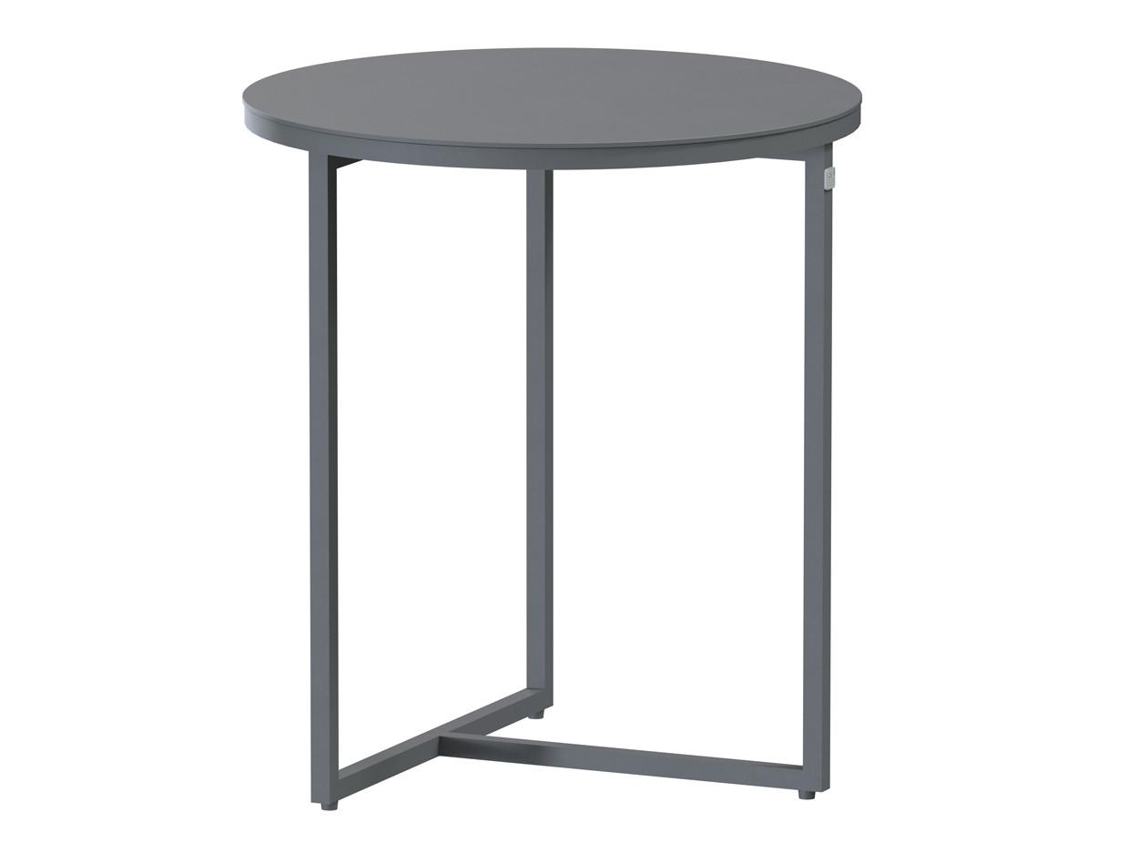 Valetta side table Alu 45 cm. Alu legs (H50)