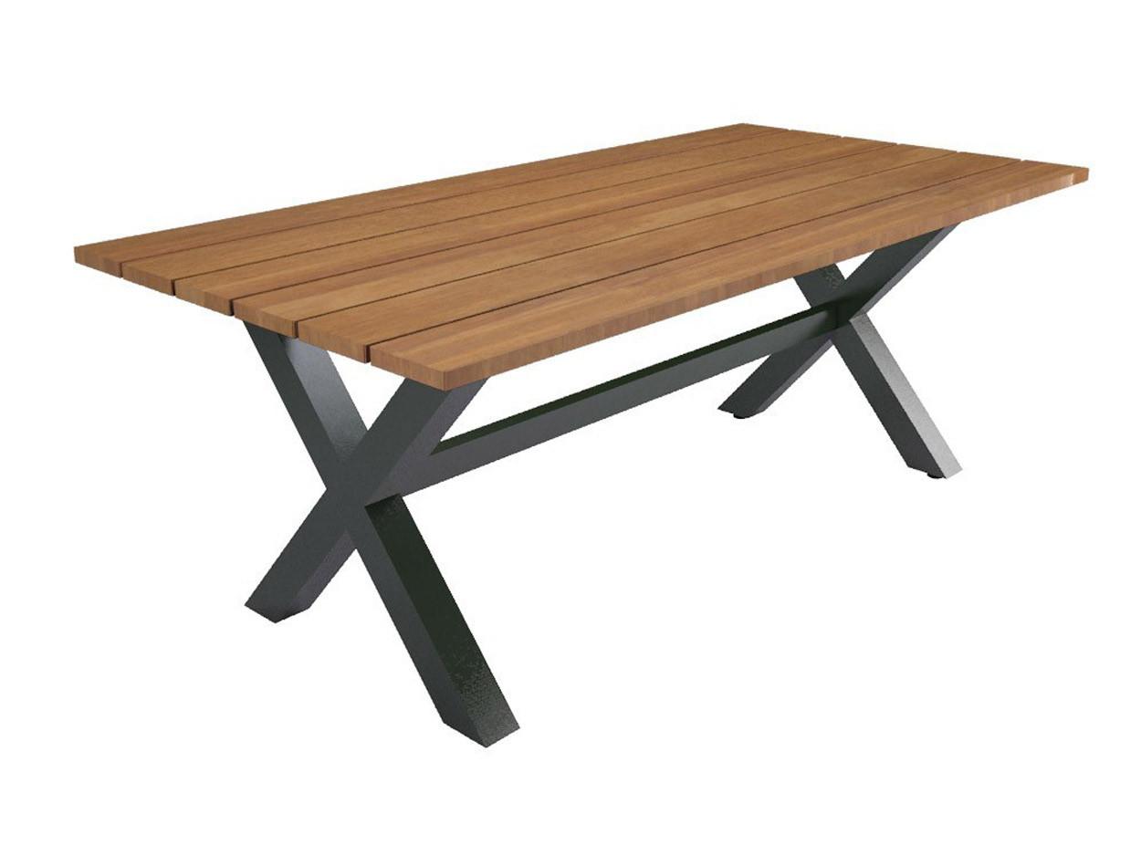 Industrieller Gartentisch für drinnen und draußen