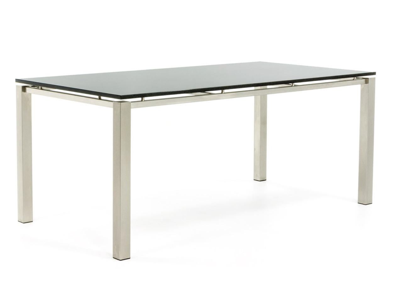 Gartentisch aus Edelstahl mit schwebender polierter Tischplatte