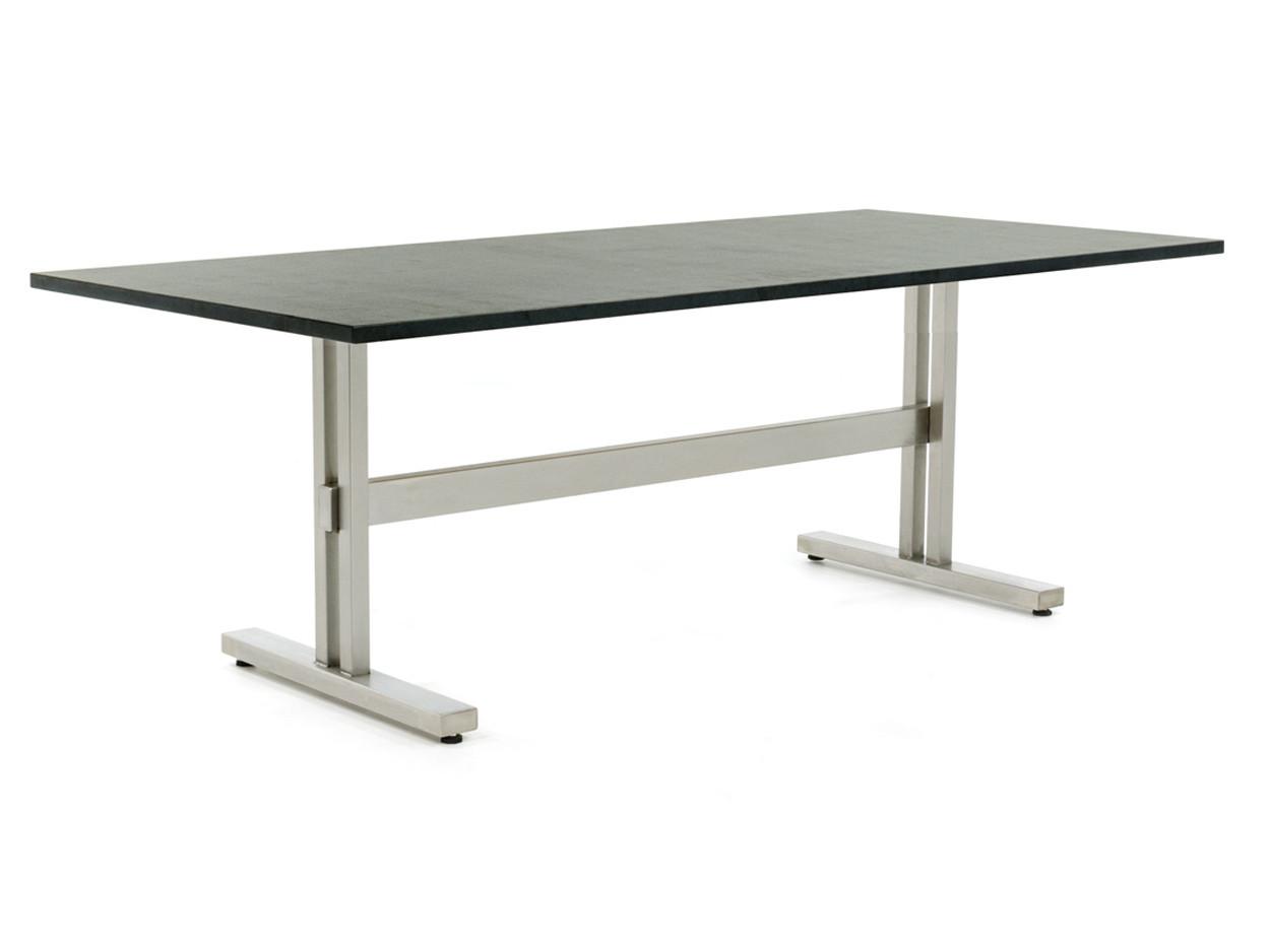 Trento Gartentisch aus Edelstahl mit Tischplatte aus Granit