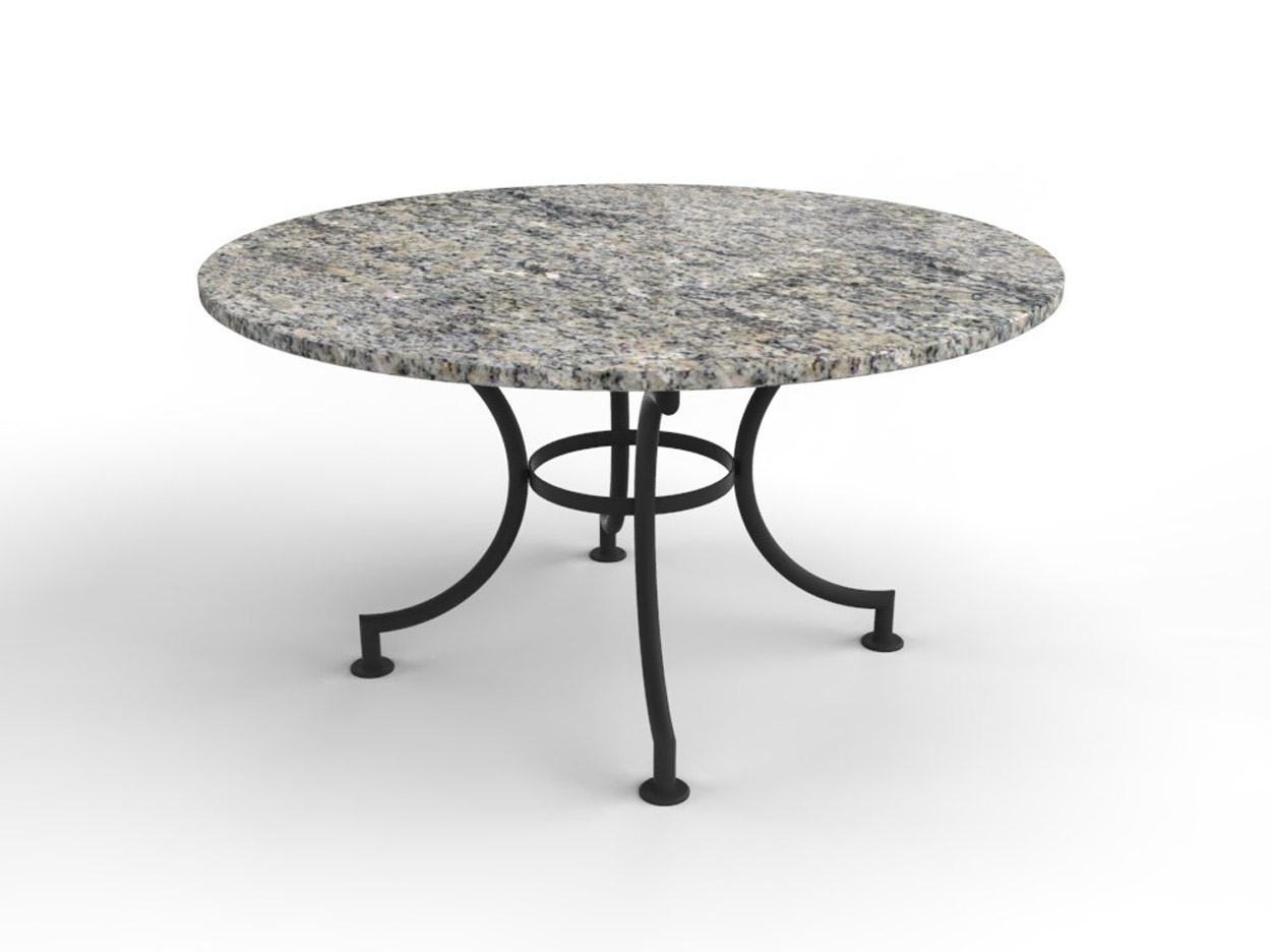 Runder Gartentisch mit Granit Tischplatte