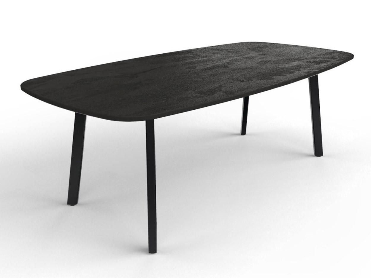 Bootsform Dekton Radium Tisch mit stabiler Stahlbasis