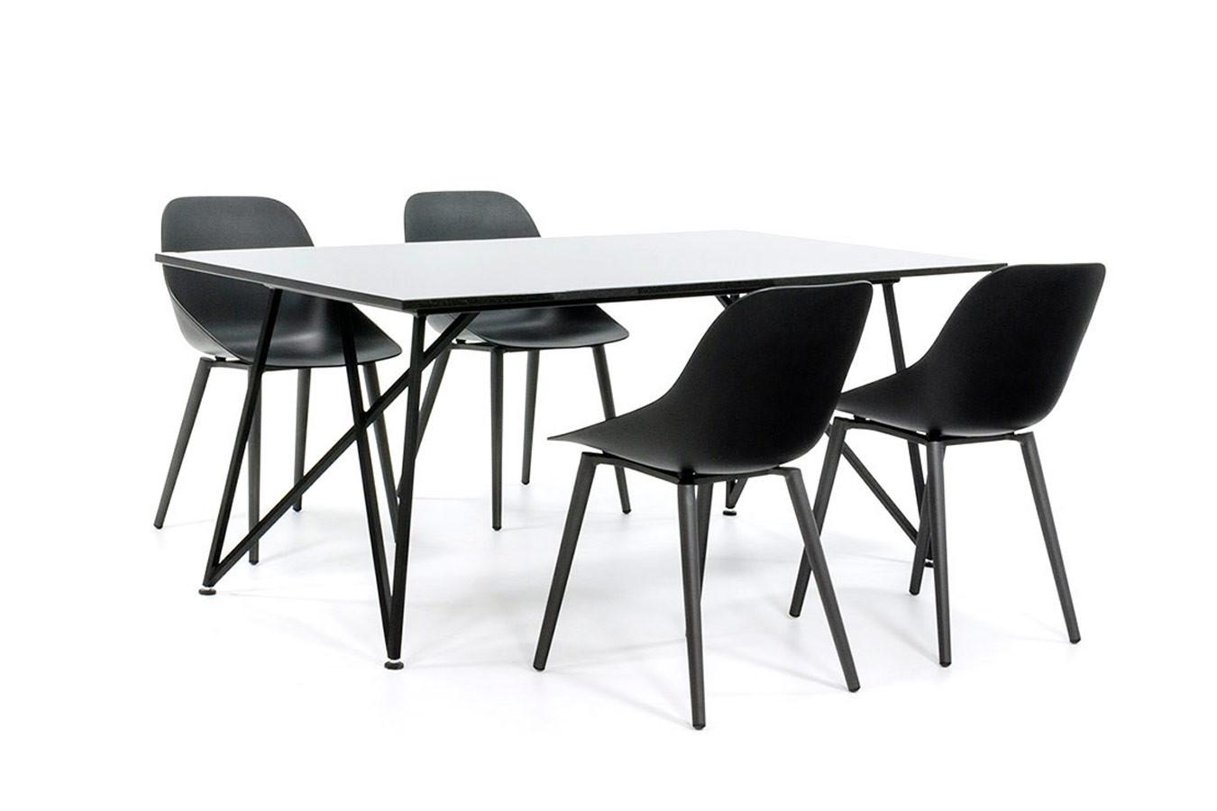 Moderner Gartentisch mit Design Gartenstühlen