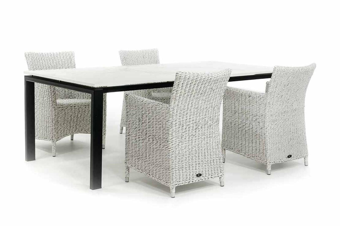 Gartentisch aus Stahl mit Tischplatte Dekton Entzo