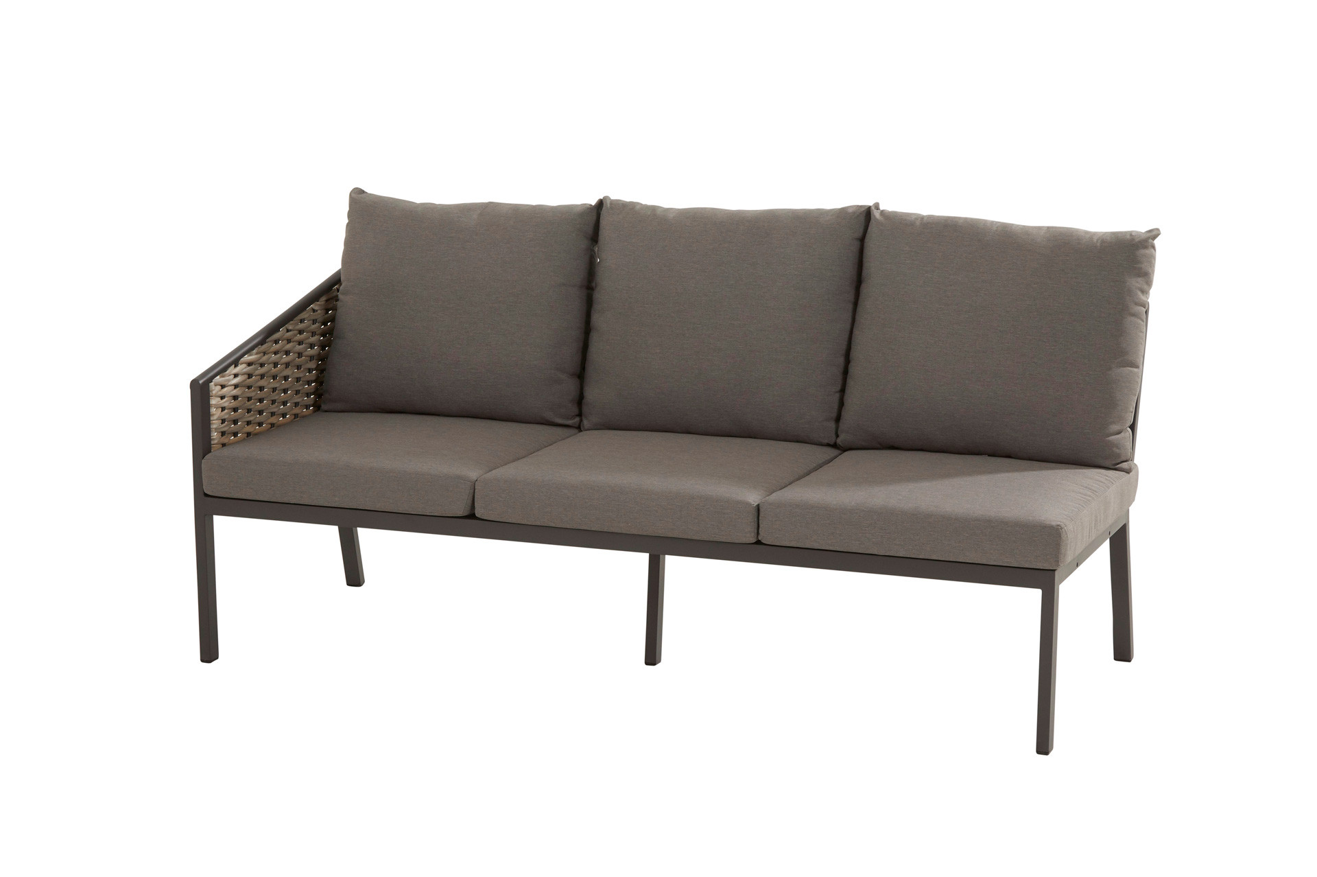 Bo cosy dining 3 seater R arm and 6 cushions