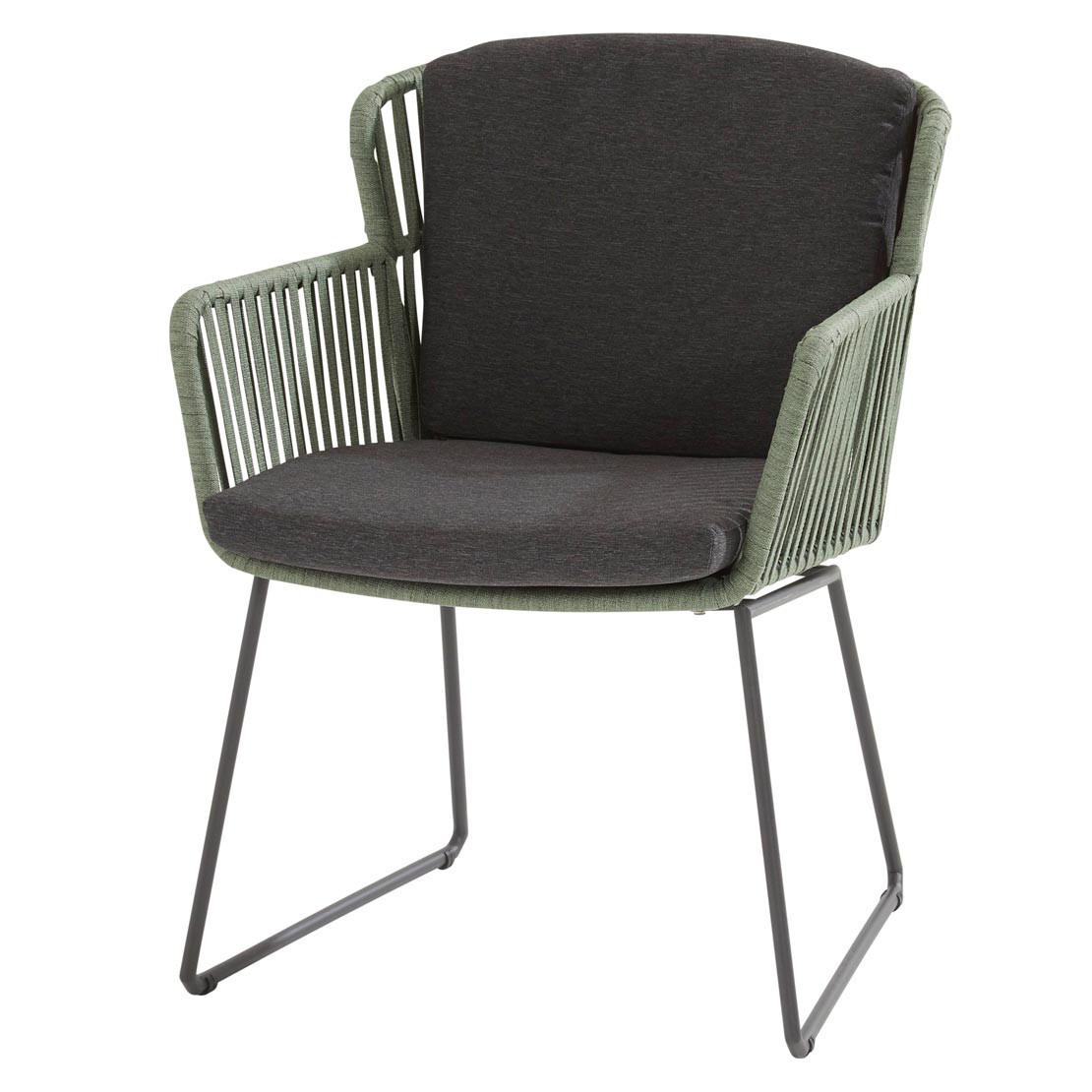 Vitali dining chair Webbing Green with 2 cushions