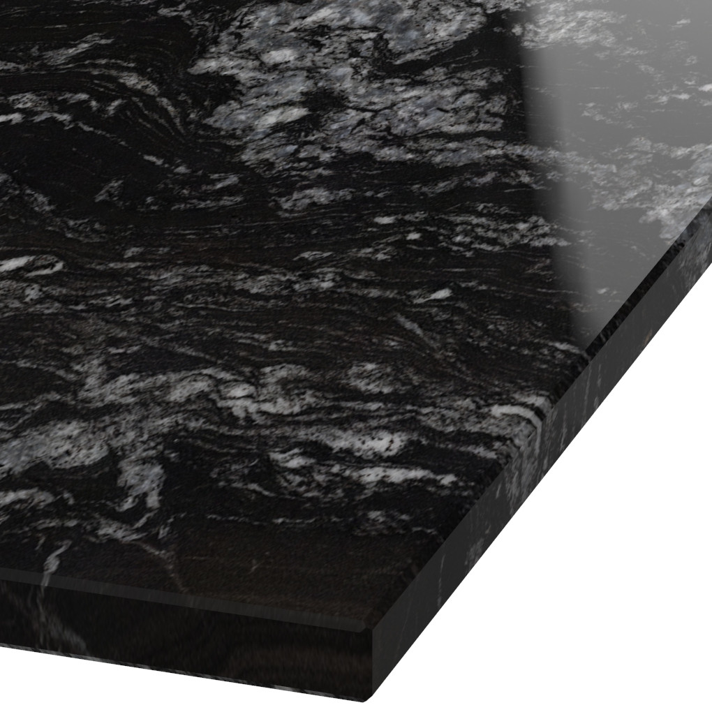 Platte 30mm stark Black Beauty Granit (poliert)