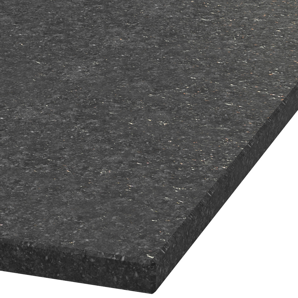Platte 30mm stark Black Galaxy Granit (leathered)