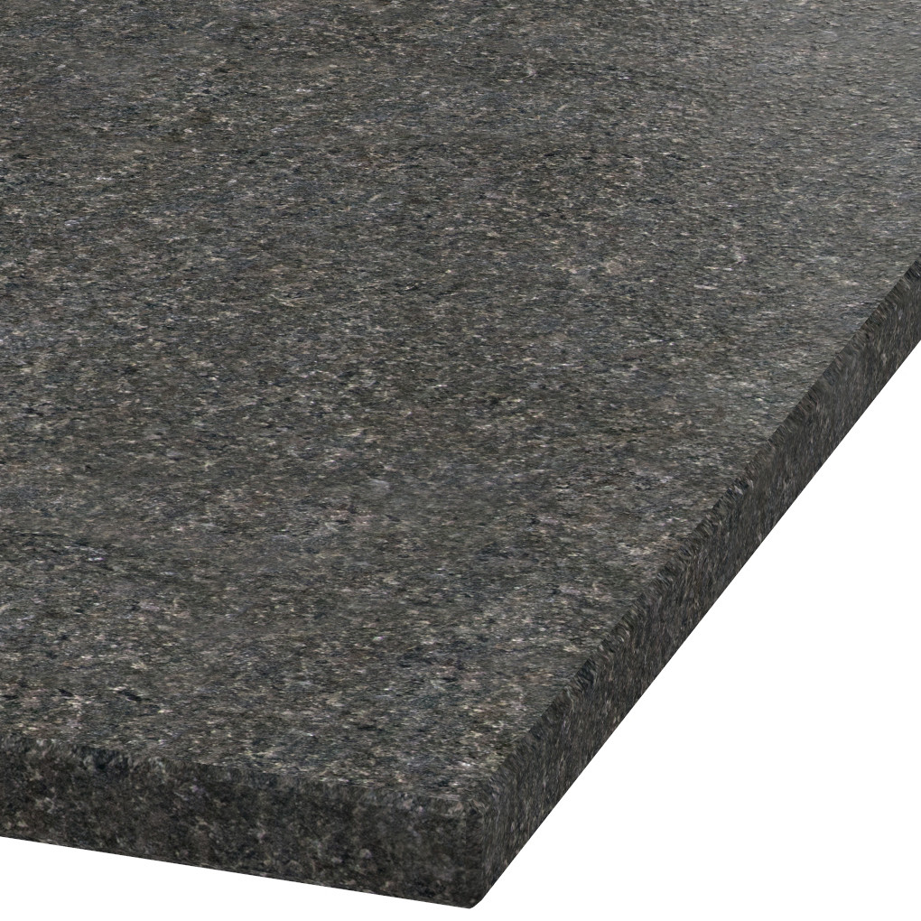 Platte 30mm stark Black Pearl Granit (leathered)