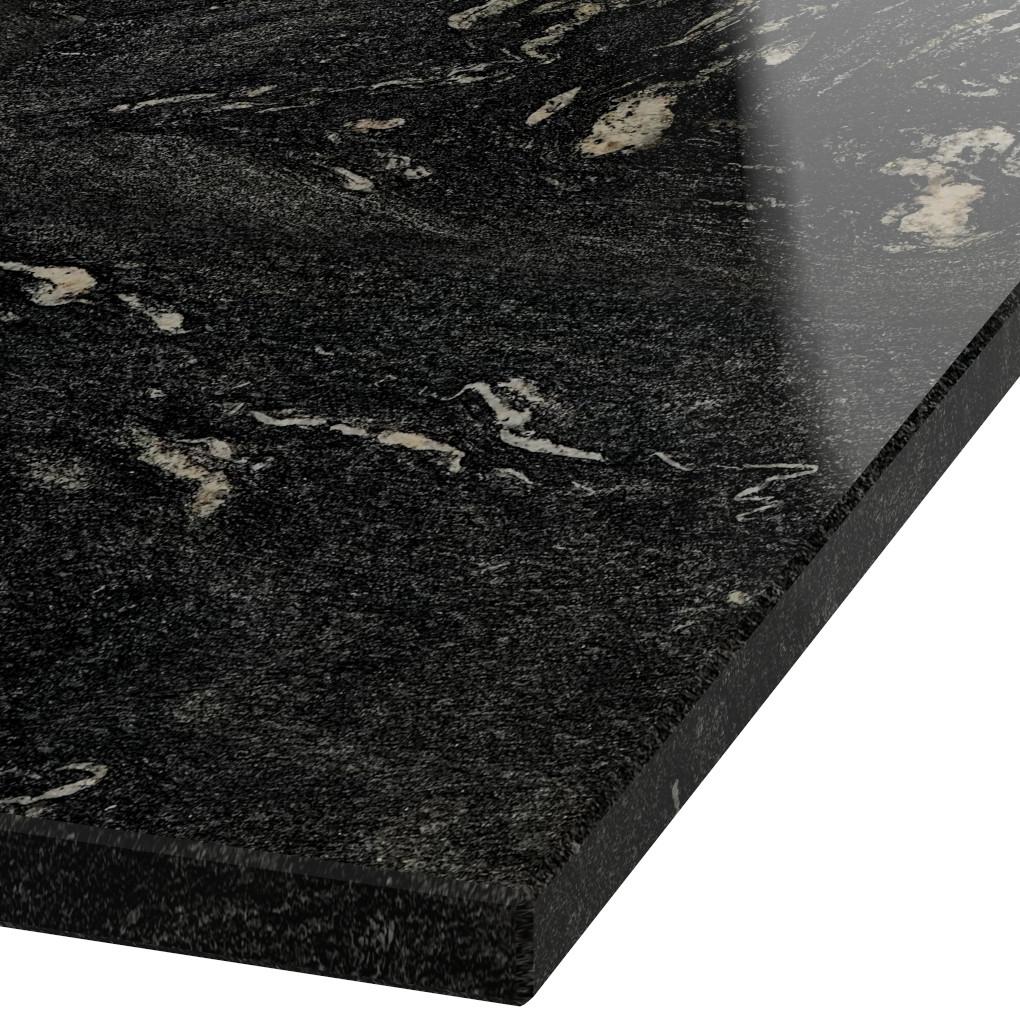 Platte 30mm stark Thunder Black Granit (poliert)