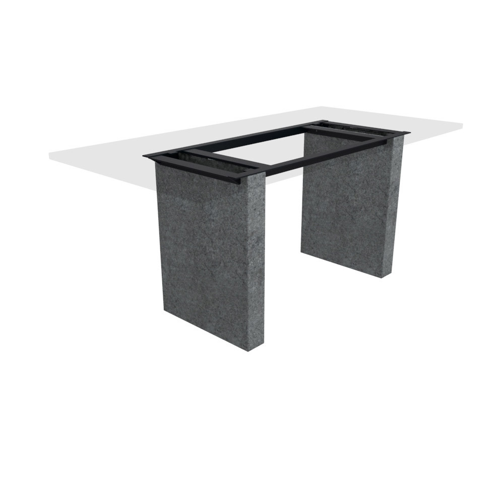 Tischgestell Cartho Basalt (geflammt) 100