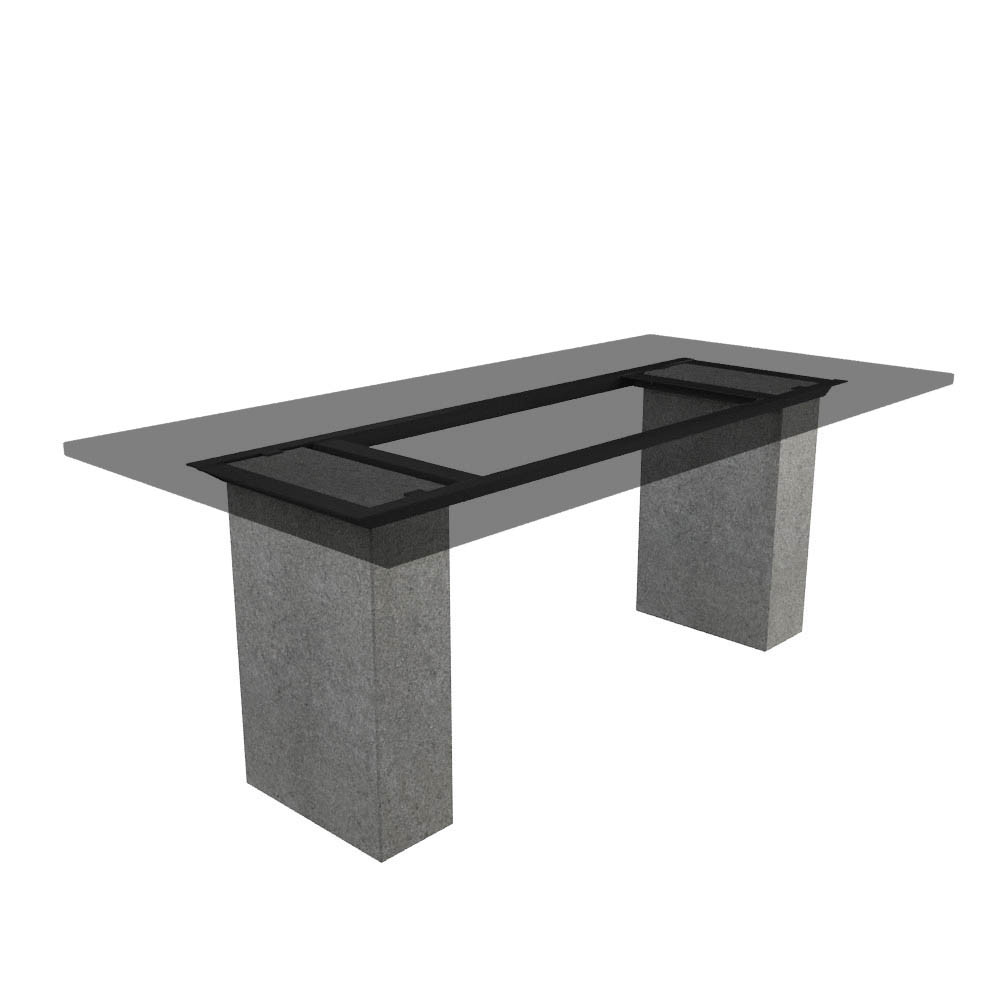 Tischgestell Cartho Basalt (geflammt) 200