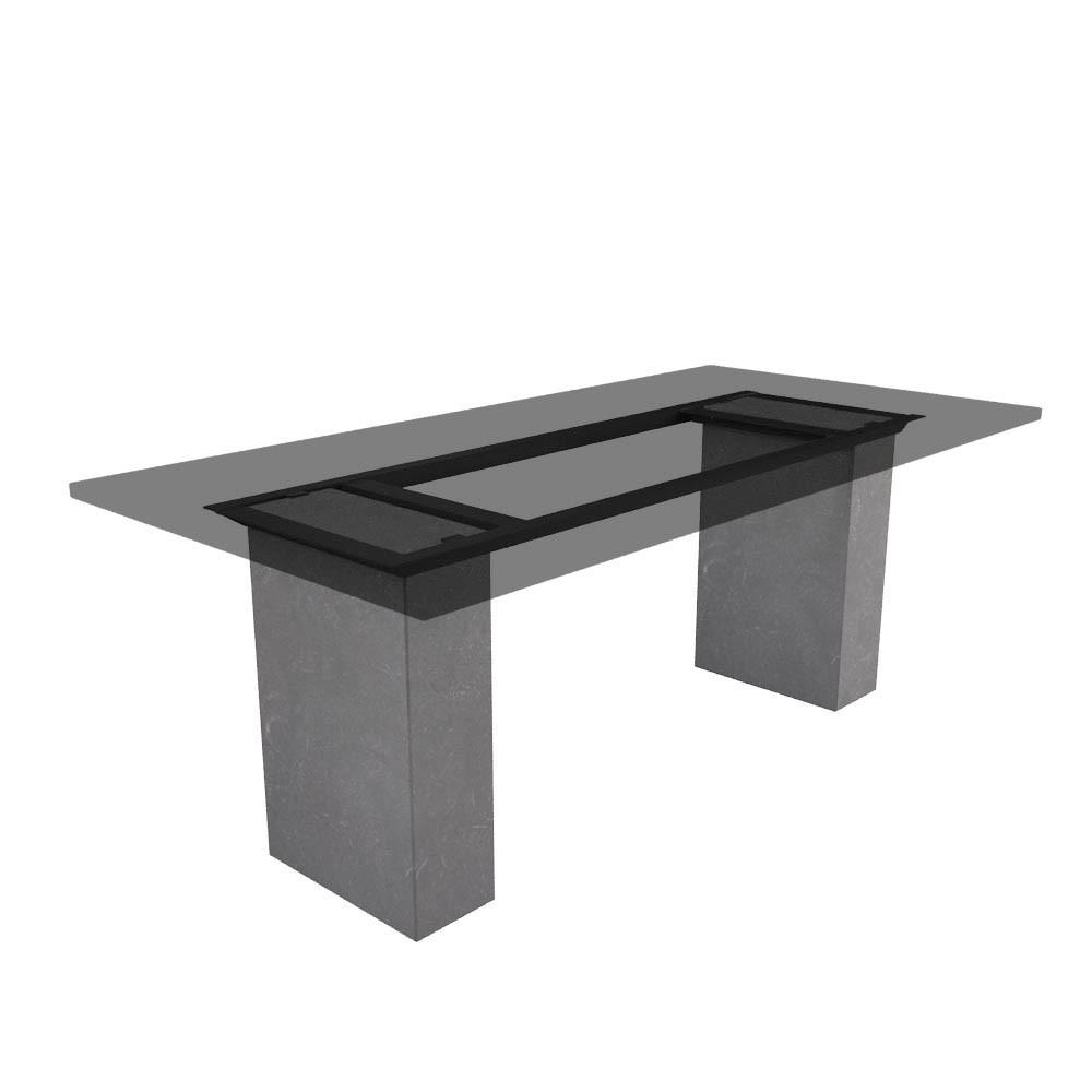 Tischgestell Cartho chinesischer Kalkstein (geschliffen)