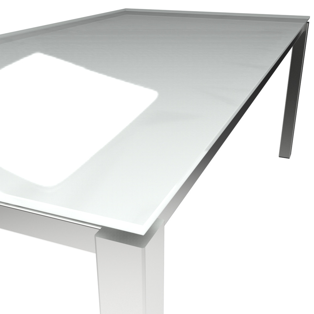 Platte ESG floatglas Pure White