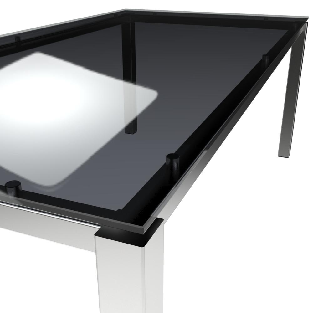 Platte ESG floatglas clear grey