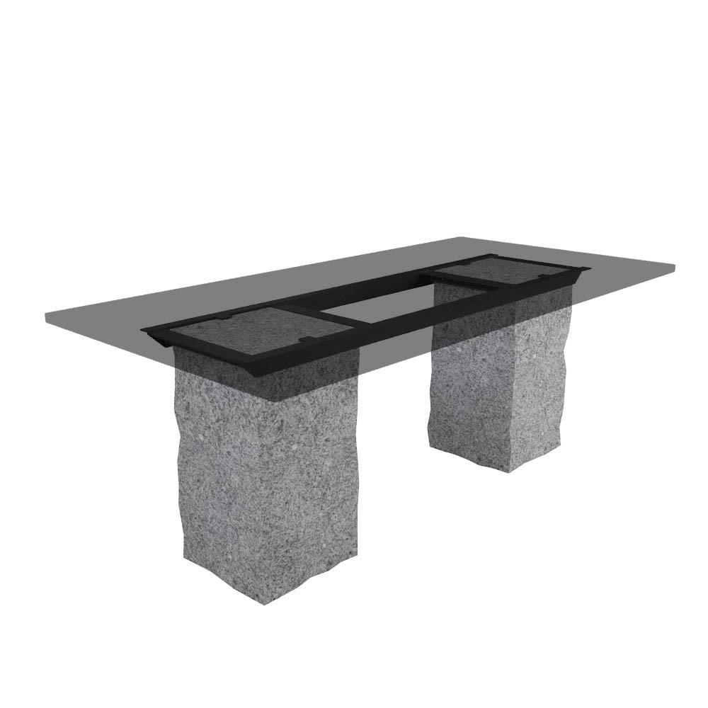 Tischgestell Steinsäule Crystal Grey (gespitzt)